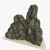 3ds max rocky boulder 2 rock