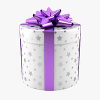 gift box 3d obj