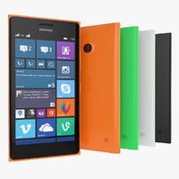 3d new nokia lumia 730 model