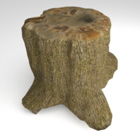 Tree Stump 2 Low Poly
