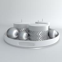3dsmax candles metal balls