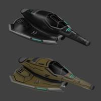 3d model spaceships
