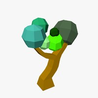 free 3ds model cartoon tree