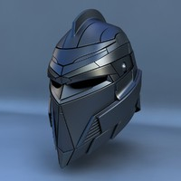 3d model of robot head type f