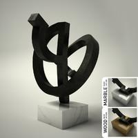3d sculpture 19 model