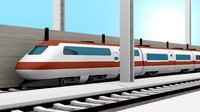 rails train 3d obj