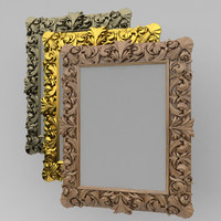 3d model of picture frame reliq