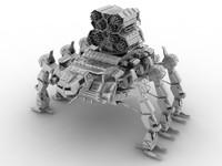 mecha robot 3d max