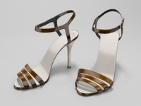 3d model of high-heeled sandals