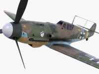 bf-109 german fighter 3d model