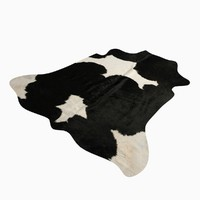Cowhide animal skin rug