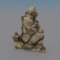 statuette ganesha 3d model