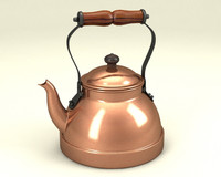 3d model teapot copper