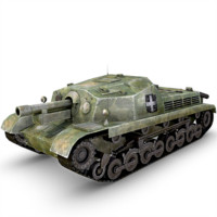 3d 43m zrinyi ii tank gun model