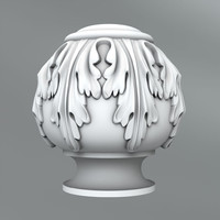3d classical decoration model