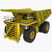 mining truck 3d x