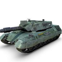 leopard tank 3d obj