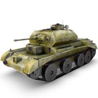 3d tank gun model