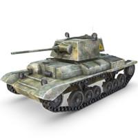 a10 cruiser mk ii 3d obj