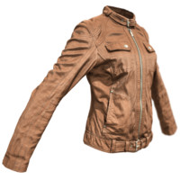 obj brown leather jacket