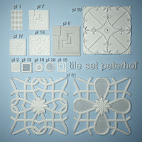 3ds max peterhof set tile