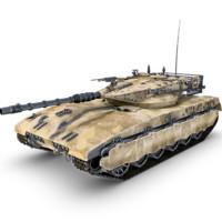 merkava tank gun 3d model
