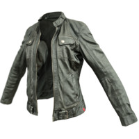 3d model black leather jacket
