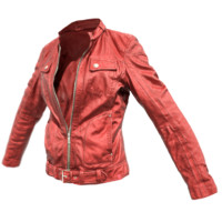 3d red leather jacket