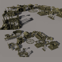 3d model ancient city ruin