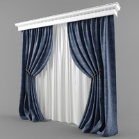 curtains blinds modern style 3d max