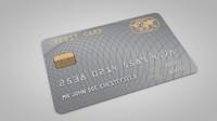 3d credit card model