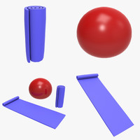 3d workout ball model
