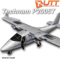 3d model technam p2006t exterior