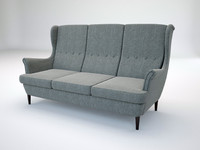 3d sofa ikea strandmon model