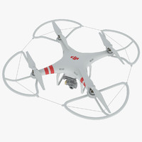 3d dji phantom 2 quadrocopter