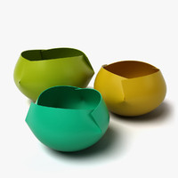 plastic bowls 3d model