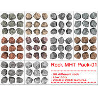 3d model rock mht pack-01