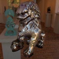 statuette chinese lion 3d max