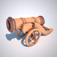decorative cannon obj