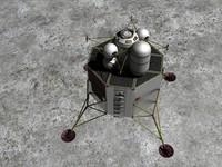 lunar surface access 3d obj