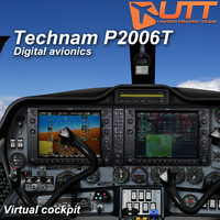 3d technam p2006t digital virtual model