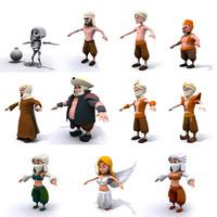 3d model chibi characters