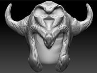 3d helmet fantastic helm model