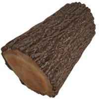 3d model tree log