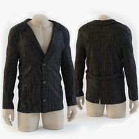 3d model corduroy jacket mannequin