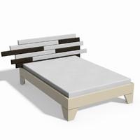 modern bed 3d dwg