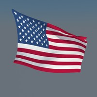 animate flags usa 3d model