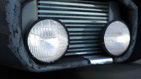 Round car lights - retro