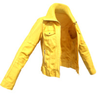 yellow leather jacket 3d obj