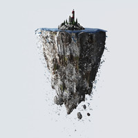 3d lighthouse floating island